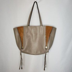 Chloé Milo Medium Motty Grey Leather Tote